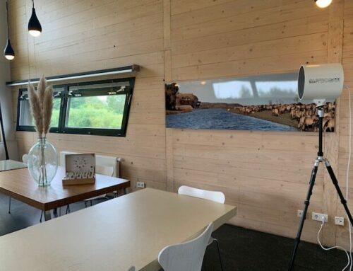 Corona-beschermd vergaderen of koffiedrinken bij de Oostvaarders in Almere